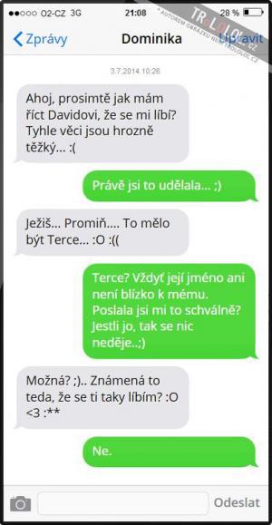 SMS od Dominiky