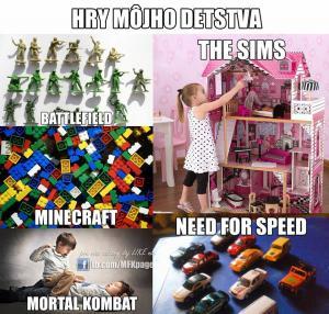 Nejoblíbenější hry mého dětství