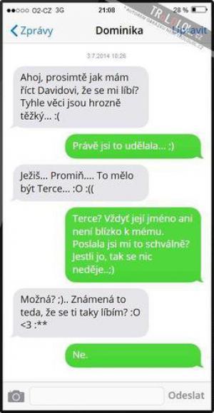 SMS od Domči