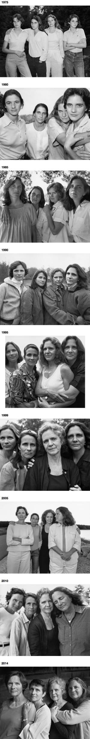 4 sestry v průběhu let