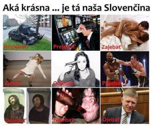Jak krásná je Slovenština :))