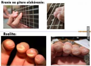 Těžký život kytaristů
