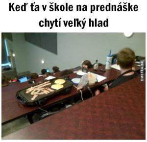 Velký hlad na přednášce
