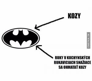 Logo Batmana trošku jinak