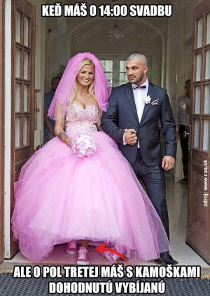 Svatba a vybíjená