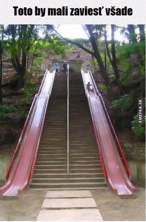 Skluzavky místo schodů