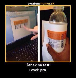 Tahák na test