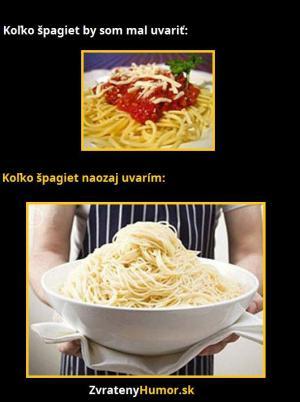 Když vařím špagety:D