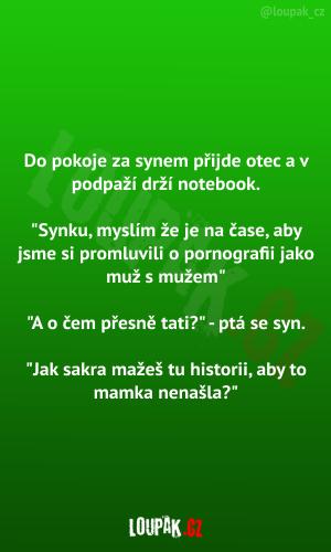 Otec s notebookem