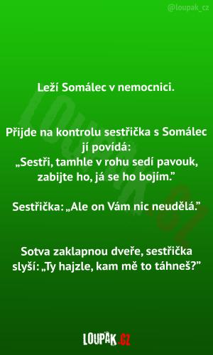 Somálec v nemocnici