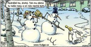 Sněhuláci vs. zajíc