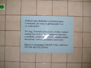 Upozornění na WC