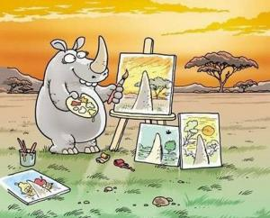 Nosorožec malířem