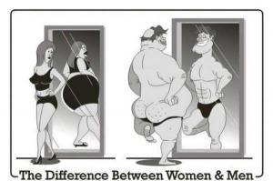Rozdíl mezi mužen a ženou