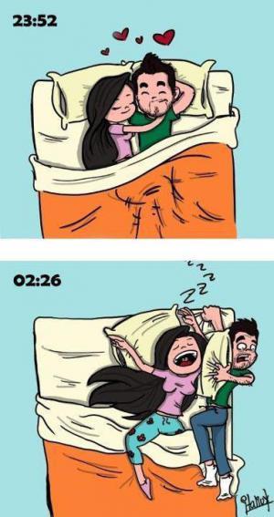 Se ženou v posteli
