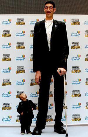nejmenší a největší člověk světa