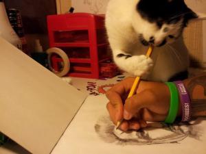Malující kočka