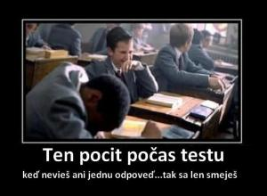 Při testu