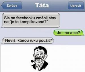 Změna stavu na facebooku