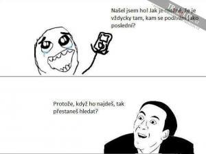 Hledání mobilu