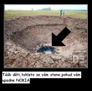 Spadla Nokia