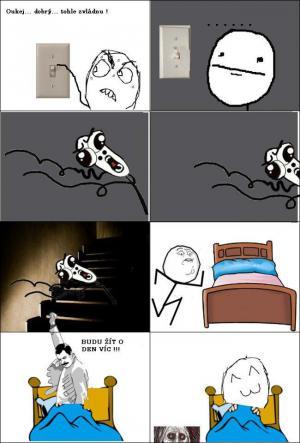 Jak to dopadne, když doma zhasnu světlo