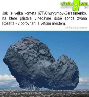 Velikost komety