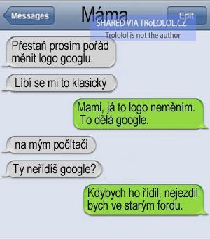 Máma a google logo