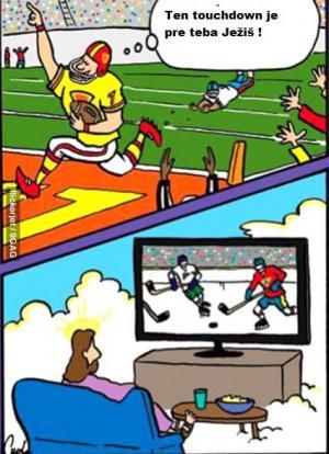 Ježíš sleduje sport