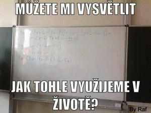 Reálné využití rovnice v životě