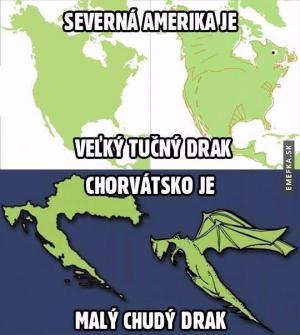 Severní Amerika a Chorvatsko