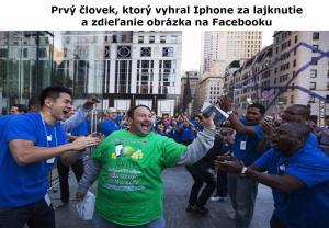 Výherce iPhone za sdílení obrázku