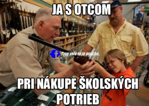 S tátou nakupuji školní potřeby