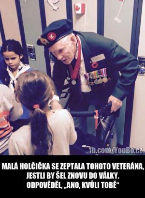 Holčička a veterán