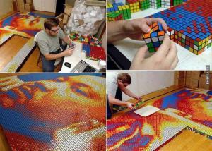 Obraz z Rubikovy kostky