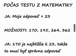 Test v matice