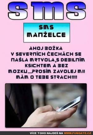 SMS manželce