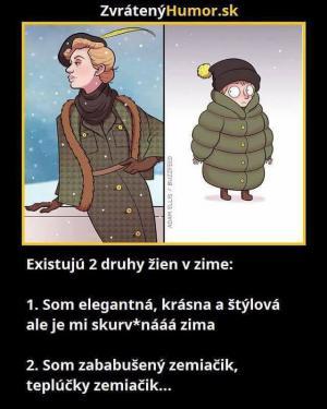 2 Druhy žen v zimě