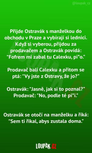 Ostravák v Praze