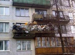 Skladiště na balkoně