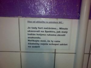 Vzkaz od uklízečky WC