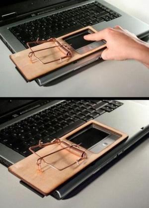 Pastička na notebooku