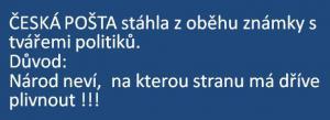Oznámení České pošty