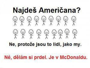Najdeš Američana