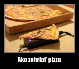 Jak zahřát pizzu