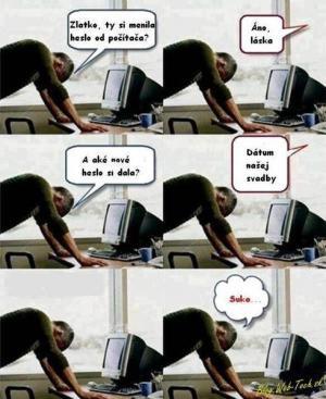 Heslo od PC
