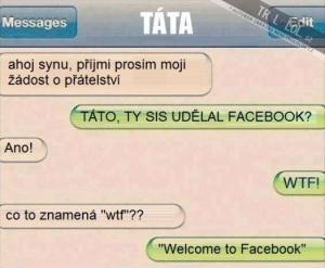 Facebook žádost