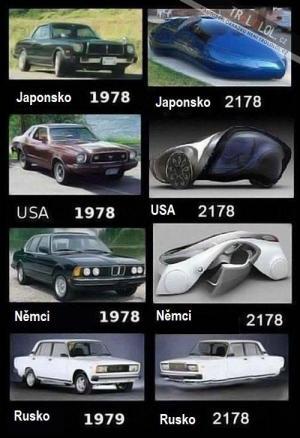 Auta teď a kdysi