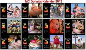 MC Donalds kalendár