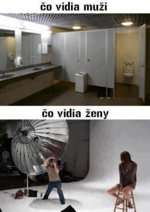 Toalety pro ženy vs